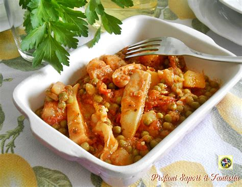 cucinare le seppie in umido seppie in umido con patate e piselli ricetta