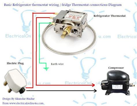 Freezer Thermostat Wire Diagram 4 by Refrigerator Fridge Thermostat Wiring Diagram Guide