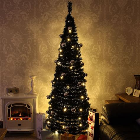 light up christmas l post pre lit artificial warm white led pop up christmas tree