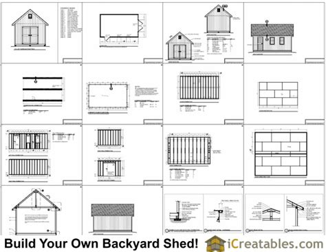12x20 traditional victorian backyard shed plans