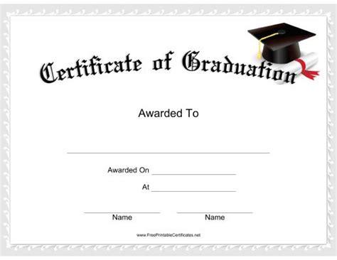graduation certificate features  mortarboard