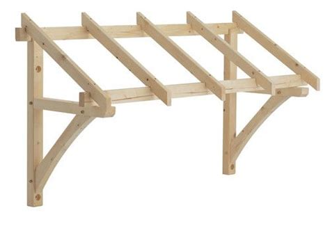 wood canapy roof brackets flat roof porch canopy kit home improvements pinterest porch