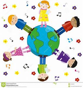 Kids Singing For Peace. Vector. Royalty Free Stock ...