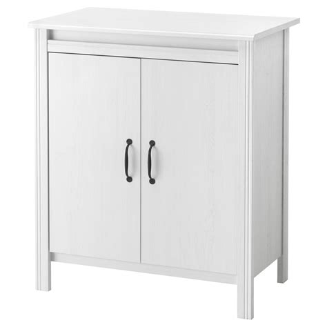 white storage cabinet with doors brusali cabinet with doors white 80x93 cm ikea