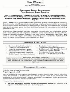 resume sample 23 construction superintendent resume With builder resume sample