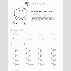 Cube Root  Worksheet Educationcom