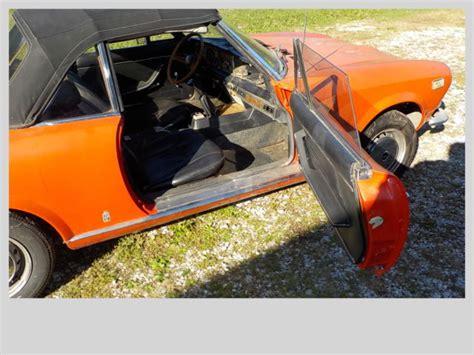 fiat  sport convertible classic fiat  spider