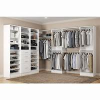 home depot closet organizer Home Decorators Collection Calabria Walk In 15 in. D x 243 in. W x 84 in. H Bianco Wood Closet ...
