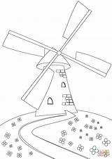 Coloring Windmill Hill Printable sketch template