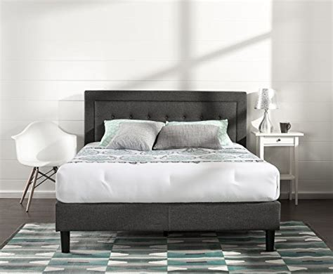 tufted headboard and frame zinus upholstered button tufted premium platform bed