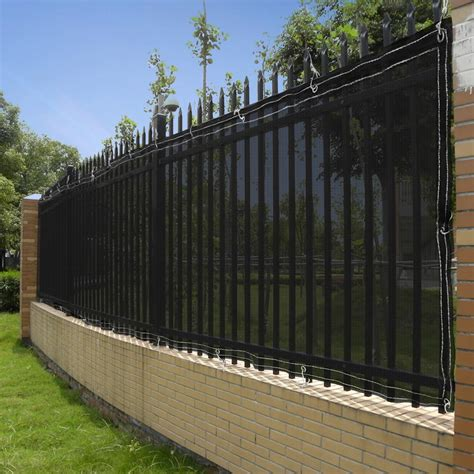 material for fences 50ft privacy fence mesh screen windscreen fabric for 4ft 6ft outdoor fencing opt ebay