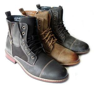 New Fashion Mens High Ankle Boots Military Combat Style