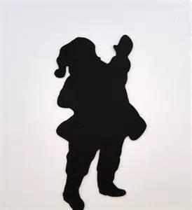 santa silhouette christmas greeting card