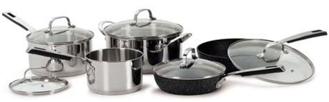 batterie de cuisine the rock starfrit the rock 8 non stick cookware set walmart ca