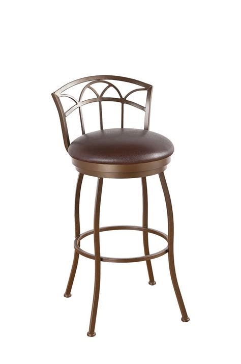 low back swivel counter stools callee fairview swivel stool 24 26 30 34 quot 9065