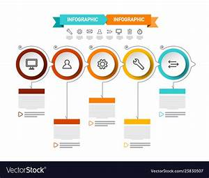 Modern Data Flow Chart Circle Presentation Vector Image