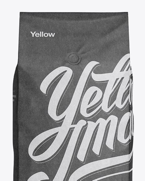 Free paper tube packaging mockup. 2,5 kg Kraft Coffee Bag With Valve Mockup - Front View in ...