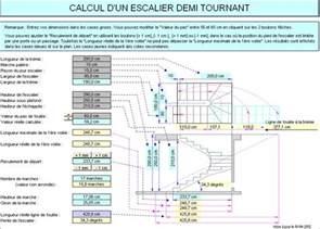 Calcul Escalier Demi Tournant Avec Palier by Calcul D Un Escalier Demi Tournant