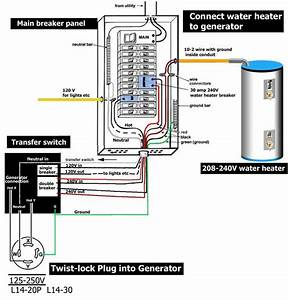 How To Wire Transfer Switch       Waterheatertimer Org