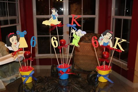 snow white centerpieces snow white birthday party centerpieces cumple antonella pinterest snow white birthday