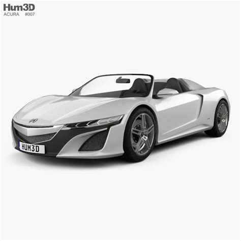 Acura Hardtop Convertible by Acura Nsx Convertible 2012 3d Model Hum3d