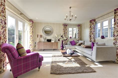 With Purple Beige Living Room Decorating Ideas  Best Site