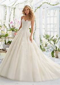 elegant embroidery on classic tulle wedding dress style With classic and elegant wedding dresses