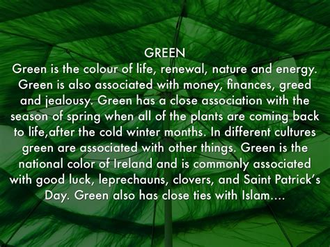 what is the meaning of the color green colour meanings by henrica burns