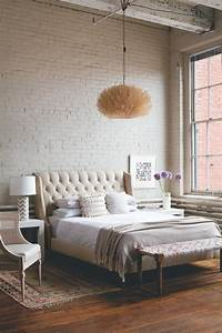 White, Brick, Walls, In, 25, Contemporary, Bedrooms