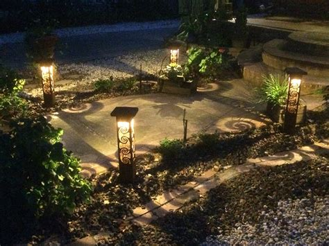 custom metal sculptural landscape lighting sestak