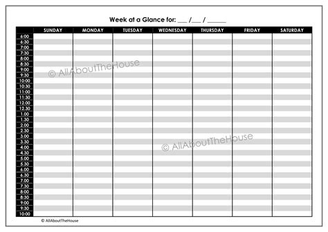 week at a glance calendar blank calendar week at a glance 2016 calendar template 2016