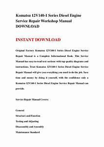 Komatsu 12v140 1 Series Diesel Engine Service Repair Workshop Manual Download