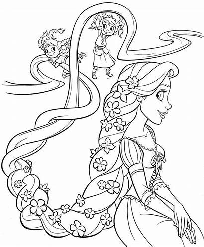 Princess Coloring Pages Rapunzel Tangled