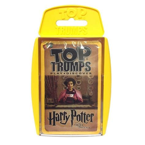 harry potter top trump cards game full set