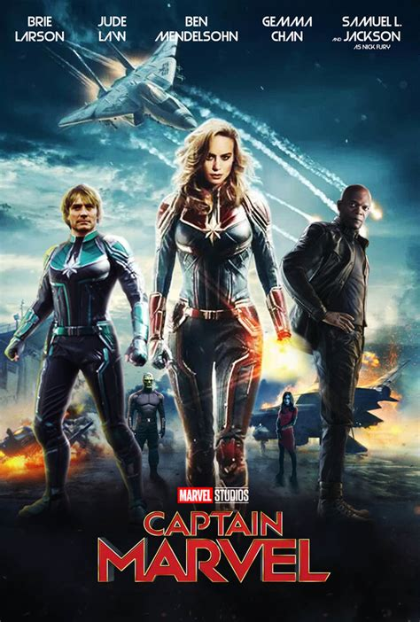 Captain Marvel Movie Poster By Marcellsalek26 On Deviantart