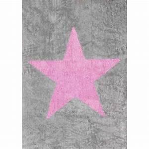 Tapis Etoile Gris : tapis enfants 100 coton lavable mobilier et d coration ~ Teatrodelosmanantiales.com Idées de Décoration
