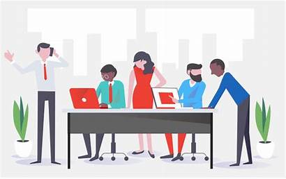 Business Growth Meeting Animated Solution Marketing Planning