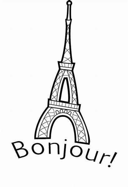 Coloring France Flag Tower Eiffel French Frankreich