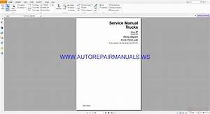 Volvo Fh12 Fh16 Lhd Trucks Wiring Diagrams Service Manual Tsp119544
