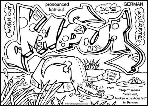 Kleurplaat Nyc by Quot Melting Potty Nyc Quot Multicultural Graffiti Coloring Book