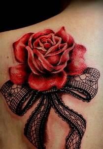 Rose En Tatouage : tatouage rose dentelle epaule femme ~ Farleysfitness.com Idées de Décoration