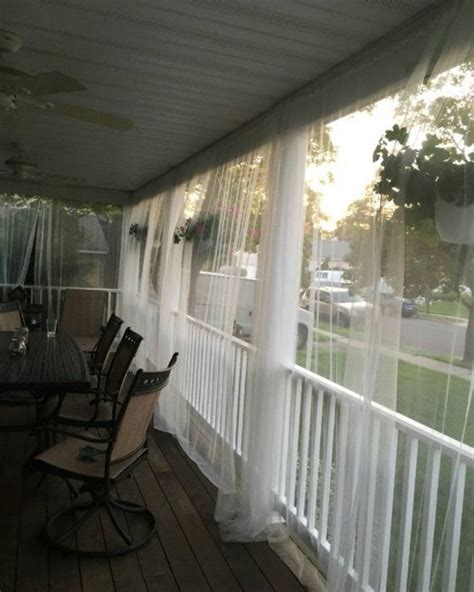 mosquito netting curtains one white mosquito netting curtain for patio or bedroom