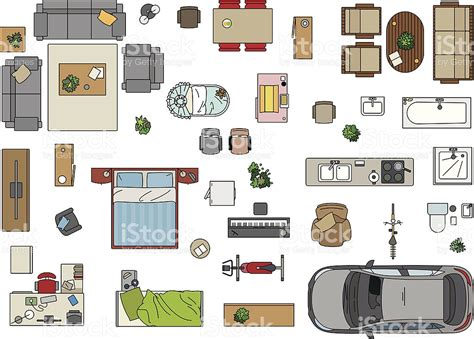 floor plan furniture stock vector art 475404547 istock