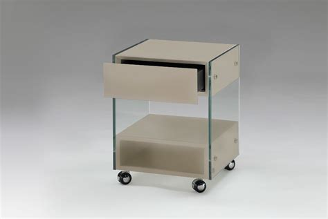 glass desk with storage glass lacquer desk storage bedside table on wheels