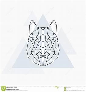 Husky Dog. Abstract Geometric Animal. Stock Vector - Image ...
