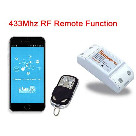 smart home light control sonoff wireless 433mhz wifi smart switch remote control