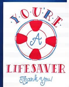 Lifesaver Thank You Card