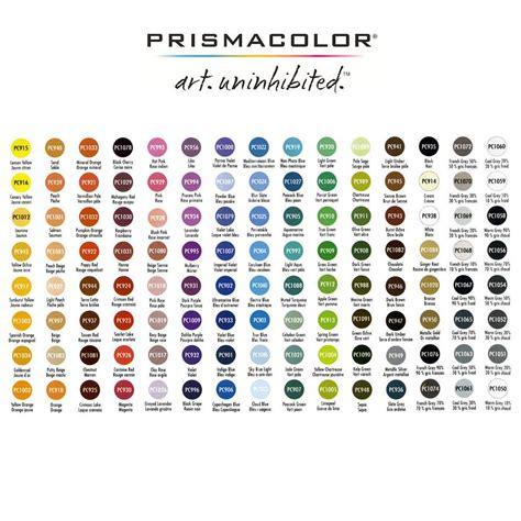 prismacolor pencils color chart prismacolor sets premier colored pencils jerry s artarama