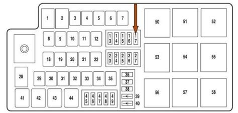 2005 Mercury Montego Fuse Box Location by 2005 Ford Five Hundred Fuse Box Diagram Fuse Box And