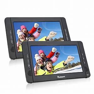 Zwei Monitore Verbinden : 10 zoll dvd player auto 2 monitore tragbarer dvd player ~ Jslefanu.com Haus und Dekorationen